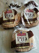 Mediterranean whole wheat  Pita Bread. 3 packages. Kosher.