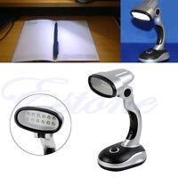New Portable Flexible 12 LED Desk Lamp Light Read Torch Battery Powered Cordless