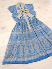 axes femme Dress Japan-M chiffon bowtie+Cut work Hime&Classical Lolita Fashion