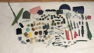 Vintage GI Joe 1980's Huge Lot 110x Weapons Parts Accessories Backpacks Gun ARAH