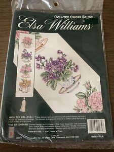 "Elsa Williams High Tea Bell Pull 02074 Counted Cross Stitch Kit 7"" x 28"""