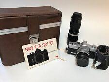 Minolta SRT-101 Bundle Case And Lenses Tele-zoom 90mm-210mm MC Rokkor F=55mm