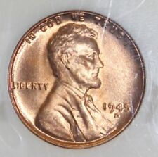 1945 D NGC Graded MS 67 RD Lincoln Cent