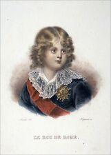 NAPOLÉON 1er - LE ROI de ROME ENFANT - Gravure 19e aquarellée à la main