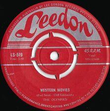 Olympics ORIG OZ 45 Western movies VG+ '58 Leedon LS519 Doo Wop R&B