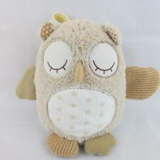 "Cloud B Nighty Night Owl Smart Sensor Plush W/4 Soothing Sounds Beige Tan 14"""