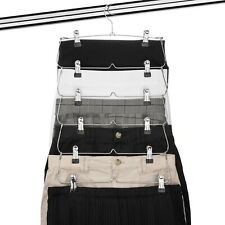 USTECH 6 Tier Skirt Hanger Trouser Skirt Pants With Clips Wardrob Space-Save