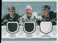 2007-08 Tundra Trios Blue Marty Truco/Sergei Zubov/Jere Lehtinen Jersey 37/75