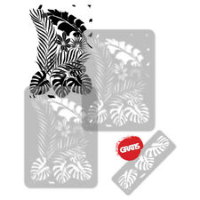 Reusable PLASTIC Wall STENCIL Template 65x95cm Seamless Allover Pattern TROPICAL