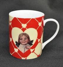 Retro Ceramic Coffee Mug Department 56 Girl Boy Hearts Love Valentine's Day Cup