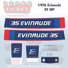 1976 Evinrude 35 HP Two Stroke Outboard Repro 8 Pc Marine Vinyl Decals 35602-03