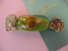 Fiona Studio porcelain gold luster leaf glass flower French  barrette hair clip