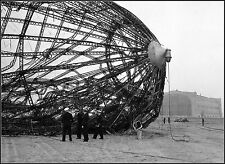 Photo: Inspecting Hindenburg's Burned Out Hull At Lakehurst, NJ - May 8, 1937