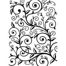 Darice Embossing Folder ~VINE PATTERN ~ Scroll Leaves Background A2 1219-136