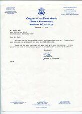 Joe Barton TX Texas US Representative Congress Tea Party Signed Autograph Letter