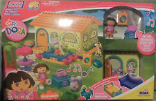 NEW NICK JR  DORA THE EXPLORER MEGA BLOKS BUILDABLE HOUSE #3026 RARE HTF