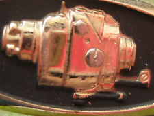 Vintage tie bar/tack gold tone retro steam punk gadget gift for man fishing reel