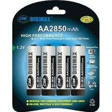 4 x Digimax AA R06 2850 mAh Ultra High Capacity NiMH Rechargeable Batteries SALE