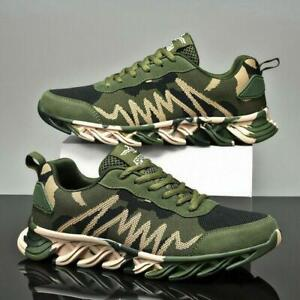 Mens Womens Camouflage Army Green Athletic Sports Casual Running Sneakers Shoes