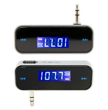 Wireless Music To Car Radio FM Transmitter w/ USB Cable For 3.5mm MP3 Phone