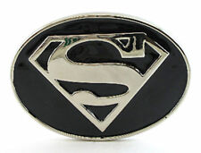 SUPER HERO S SUPER MAN B&W CHROME LOGO BELT BUCKLE DC SUPERMAN SNAP BELT