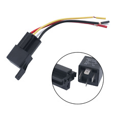 4Pcs Auto Car Waterproof 12V 50A 4Pin Control Amp Relay W/Wires Harness Socket