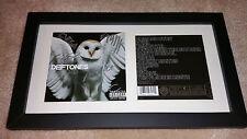 DEFTONES Diamond Eyes SIGNED AUTOGRAPHED FRAMED CD BOOK DISPLAY Chino Moreno #B