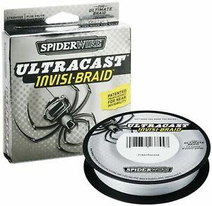 Spiderwire Ultracast Invisi Braid Braided Fishing Line 114m Spool 20lb 9kg