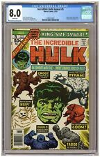 Incredible Hulk Annual #5 (CGC 8.0) 2nd app. Groot; Kirby cover; Newsstand (6751