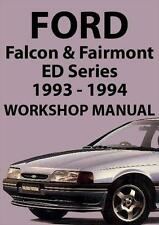 FORD FALCON & FAIRMONT ED Series WORKSHOP MANUAL: 1993-1994