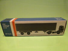 LION CAR 69 DAF TRUCKS 2300 + EUROTRAILER - 1:50 GOOD - * ONLY EMPTY BOX * (2)