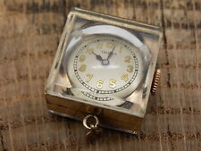 Vintage Ladies Trinity Elem Square Pendant Watch 15 Jewels Gold Plated