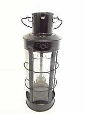 Vintage Usato Hong Kong Ricostruite Nero Rotondo Insolito Forma Barn Lanterna