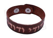 Jewish Kabbalah Hebrew Judaica Prayer Leather Bracelet prayer powerful soul Gift