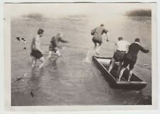 (f18805) Orig. Photo Young Jump into the water 1928