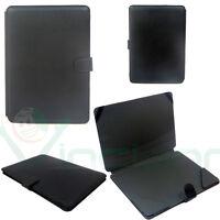 Custodia cover booklet eco pelle NERA pr Huawei MateBook 12 anti-urto protezione