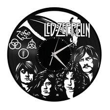Led Zeppelin Vinyl Wall Art Clock Music Bands Musicians Themed Home Room Decor