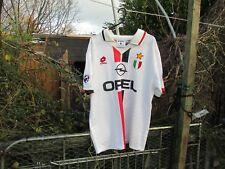 Vintage Lotto AC Milan 1995-96 Lega Calcio Opel Away (L) Football Shirt Weah #9