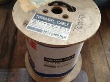 Twinaxial 2 conductor 20 Awg copper Cable 500' Black Cl2 Cable Wire Roll Spool