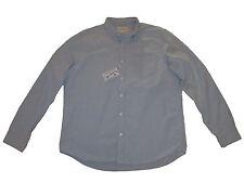 Denim and Supply Ralph Lauren Light Blue Polo Distressed Oxford Shirt Medium