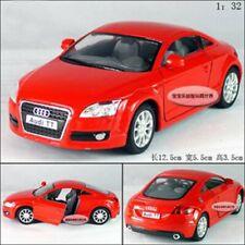 "Kinsmart 1:32 Scale  5"" 2008 Audi TT Diecast model Car Door Open Pullback Red"