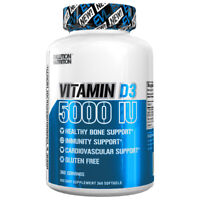 Evlution Nutrition Vitamin D3 | 5000 IU High Potency | Bone & Joint Support |