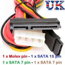 SATA COMBO Cable Data & Molex to S-ATA Power Lead Internal PC CPU Lead Hard Disk