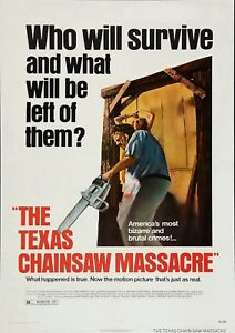 THE TEXAS CHAINSAW MASSACRE POSTER FILM A4 A3 A2 A1 LARGE FORMAT CINEMA MOVIE