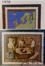 2 X Timbre Stamp Autriche Osterreich 1978 YT 1403 Neuf et 1416 Oblitéré