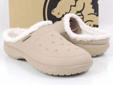 Crocs Unisex Colorite Lined Comfortable Clogs Slippers Beige M 10 / W 12