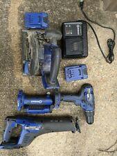Kobalt 18v 4 Tool Kit w/ Bag, 2 batteries and quick charger