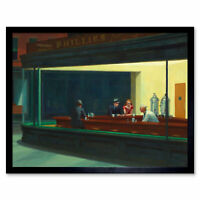 Edward Hopper Nighthawks Iconic Painting Wall Art Print Framed 12x16