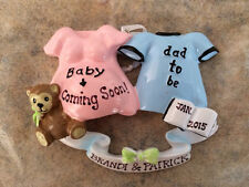 Personalized Pregnant Couple , Expecting Parents to Be Christmas Ornament -Gift
