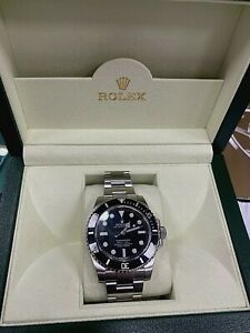 Rolex Submariner 114060 40MM NO DATE 4 Lines Box,Papers,Warranty Card PRISTINE